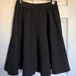 Black scuba a-line skirt